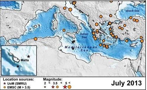 Earthquakes in Malta Maltese History Heritage