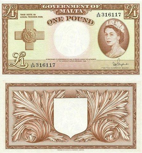 Malta-1-Pound-1954