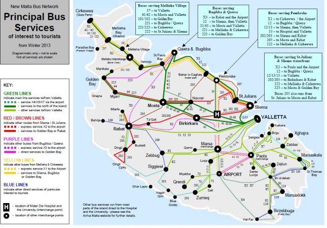Winter 2013 Routes