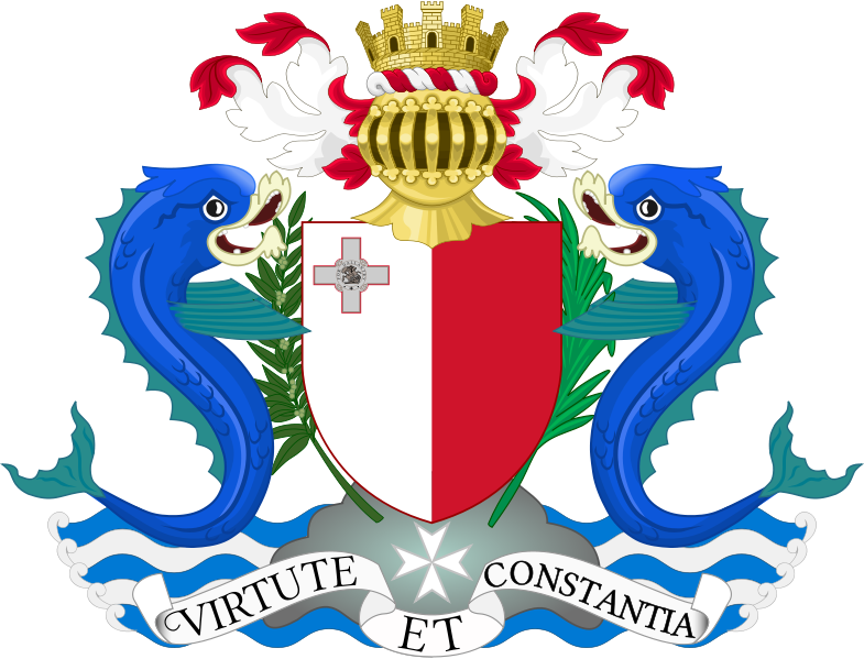 National symbols maltese history heritage national motto virtute et constantia latin for power and consistency since 1964 publicscrutiny Images