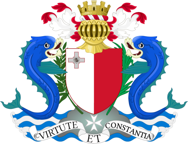 785px-Coat_of_arms_of_Malta_1964-1975.svg