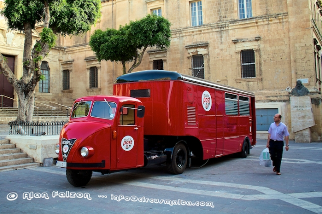 Restored Malta Post Van in Valletta . Photography by Alan Falzon