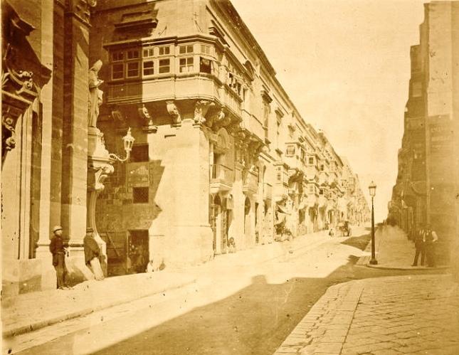 Old Bakery Street Valletta Malta in 1876