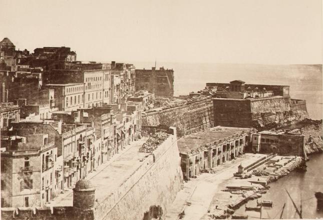 St. Barbara bastion Valletta Malta circa 1860s