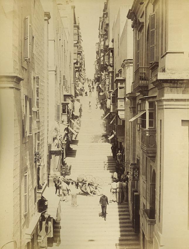 St. Lucia Street Valletta Malta 1881