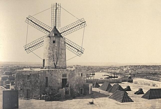 St. Michael's bastion Valletta Malta circa 1870s