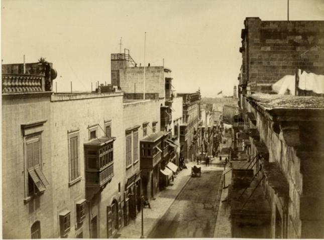 Strada Reale by North Street Valletta Malta 1870