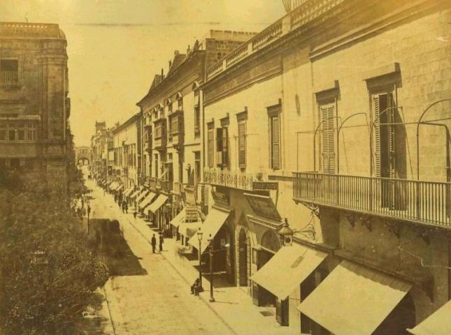 Strada Reale Valletta Malta 1883
