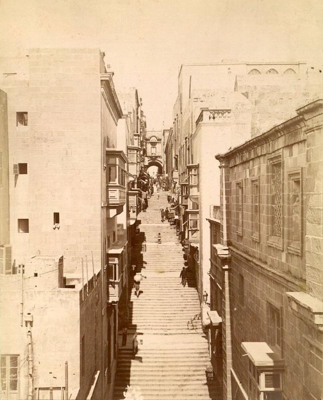 Strada Teatro Valletta Malta 1876