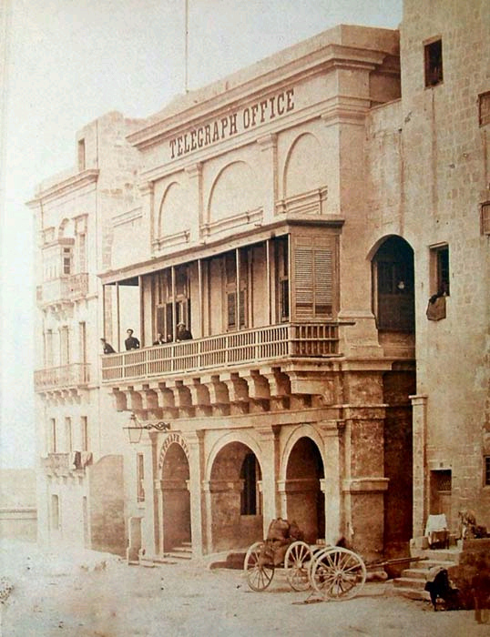 Telegraph Company at 6&7 Marsamscetto Road Valletta Malta circa 1880s
